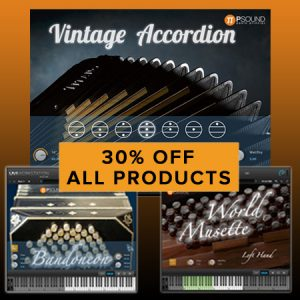 30% off all PSound Virtual Instrument Software