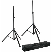 Pulse PA Stands High Quality Speaker Tripod Stands kit with Bag Stand (DJ, Disco or PA)