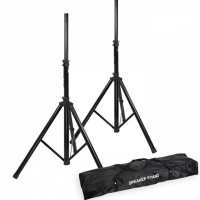 Adam Hall Heavy Duty PA Speaker Stands with Free Carry Case SPS023 (set of 2)