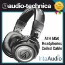 Audio Technica ATH M50 Headphones - Coiled Cable