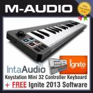 M-Audio M Audio Keystation Mini 32 Controller Keyboard With Free Ignite 2013 Software