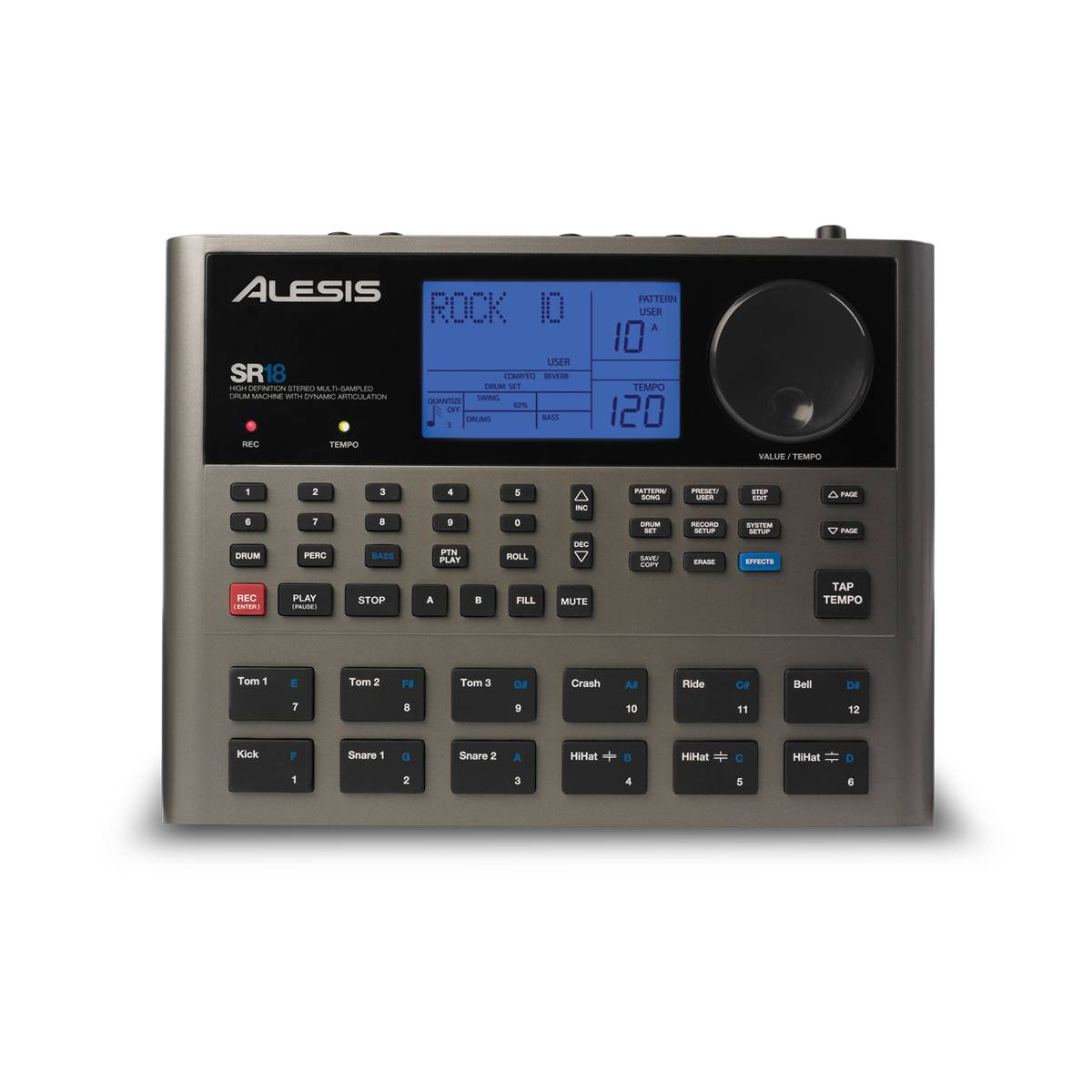alesis sr18 professional drum machine