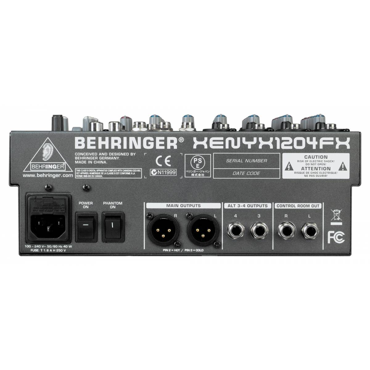 behringer xenyx 1204fx analogue mixer. Black Bedroom Furniture Sets. Home Design Ideas