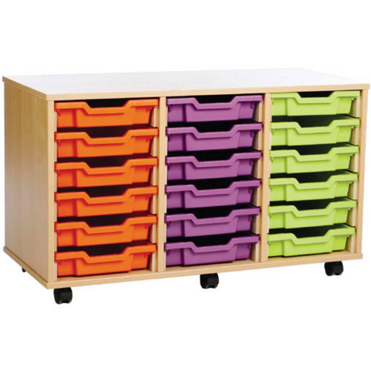 18 Tray Mobile Storage Unit - Storage Units from Inta Audio UK