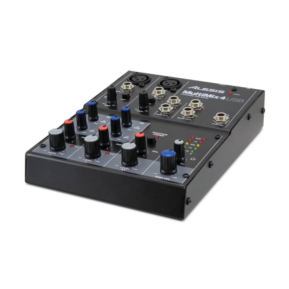 alesis multimix 4 usb mixer audio interface. Black Bedroom Furniture Sets. Home Design Ideas