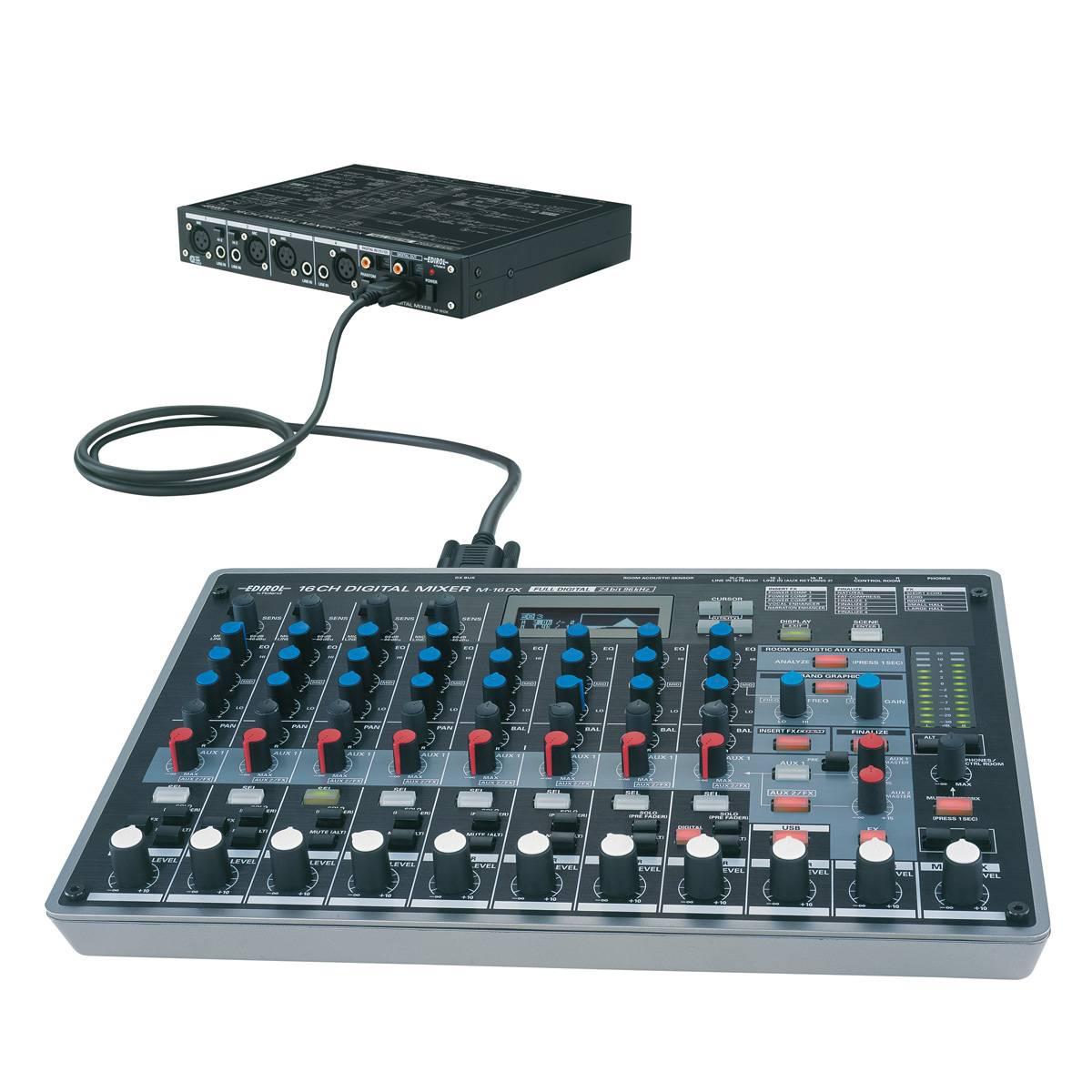 edirol m 16dx digital audio mixer interface usb interfaces from inta audio uk. Black Bedroom Furniture Sets. Home Design Ideas