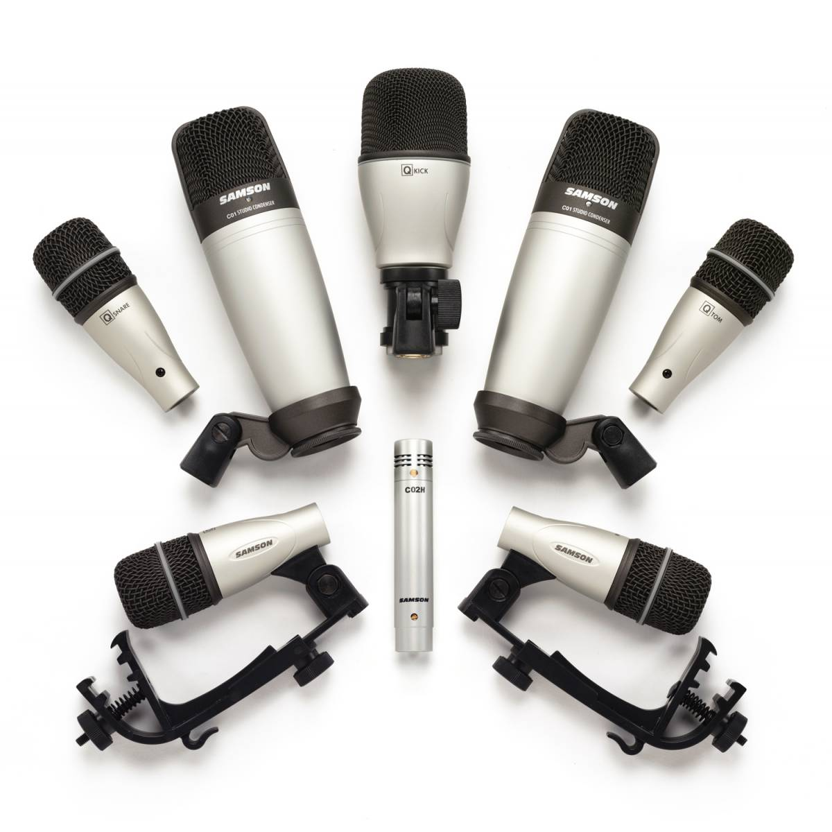 samson 8 kit 8 piece drum mic set drum percussion microphones from inta audio uk. Black Bedroom Furniture Sets. Home Design Ideas