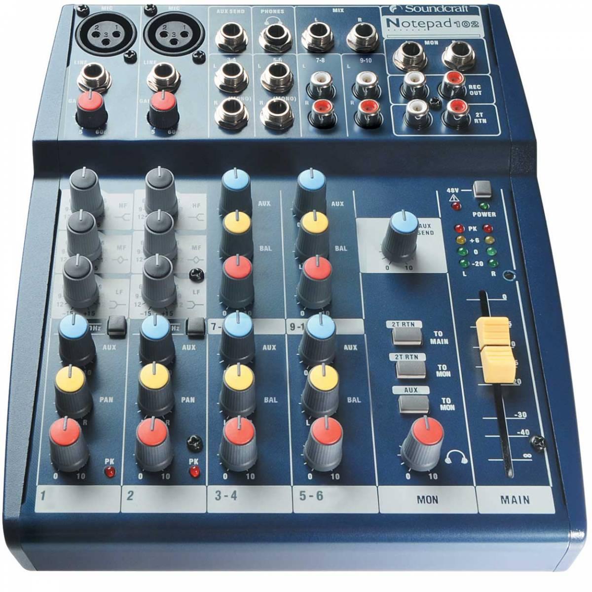 soundcraft notepad 102 10 channel mixer. Black Bedroom Furniture Sets. Home Design Ideas