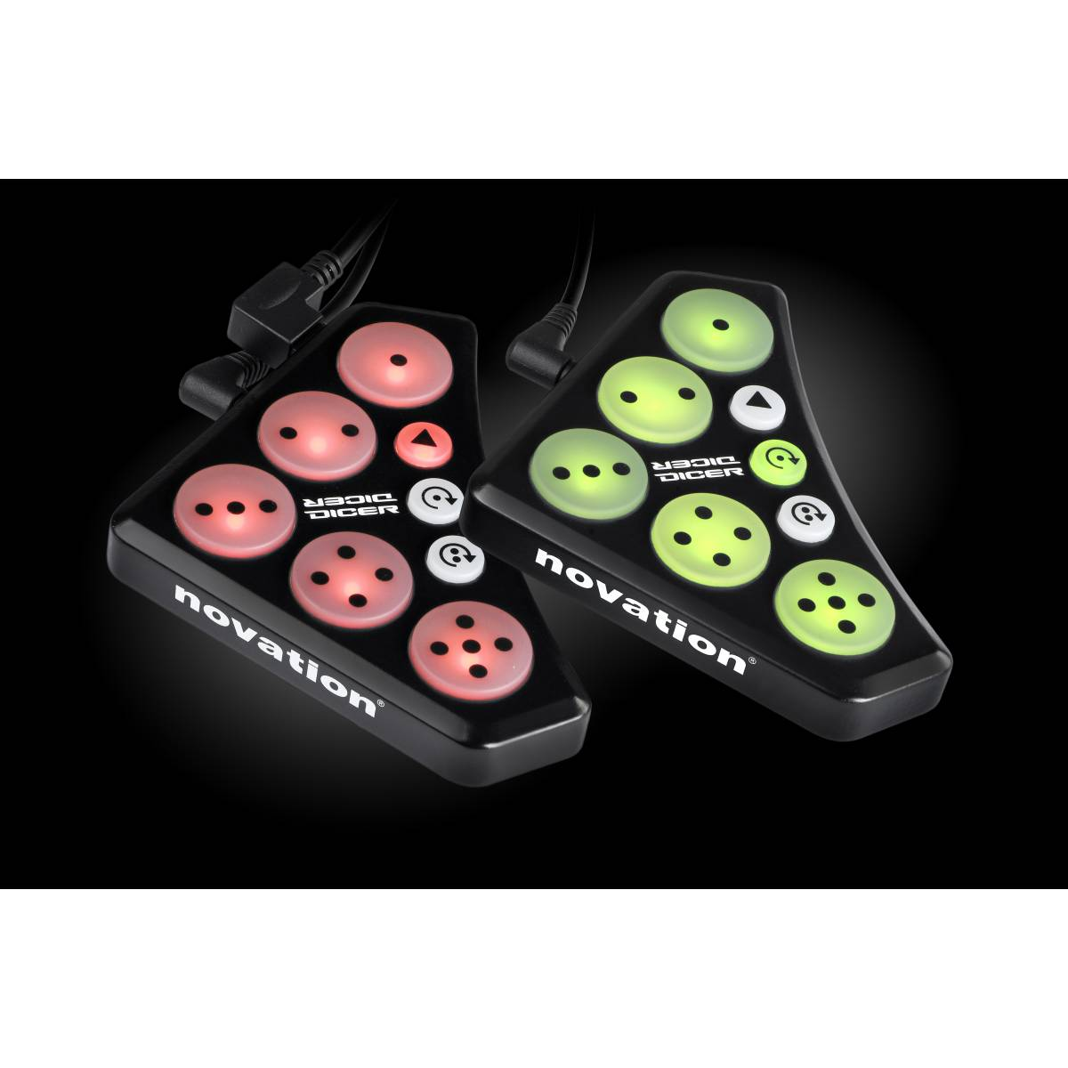 novation dicer cue point looping midi controller pair dj equipment from inta audio uk. Black Bedroom Furniture Sets. Home Design Ideas