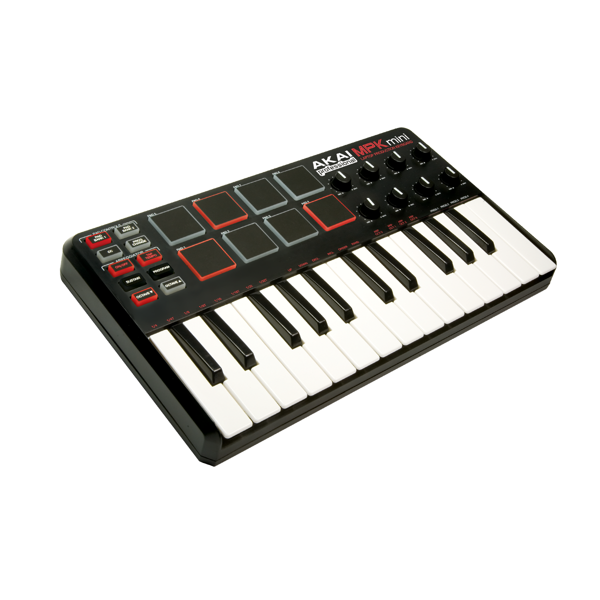 akai mpk mini midi usb controller keyboard midi controllers from inta audio uk. Black Bedroom Furniture Sets. Home Design Ideas