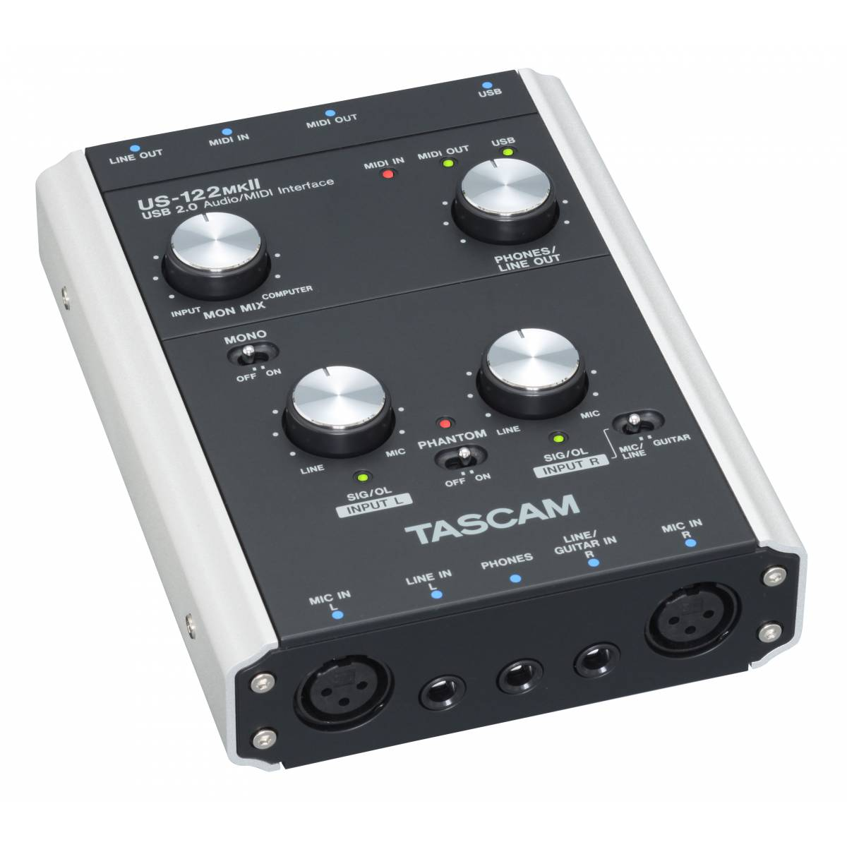 tascam us 122 mkii usb 2 0 audio interface audio interfaces soundcards from inta audio uk. Black Bedroom Furniture Sets. Home Design Ideas