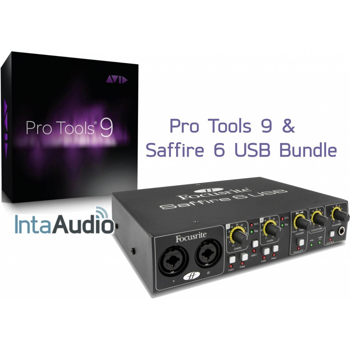 pro tools 9 focusrite saffire 6 bundle pro tools interfaces from inta audio uk. Black Bedroom Furniture Sets. Home Design Ideas