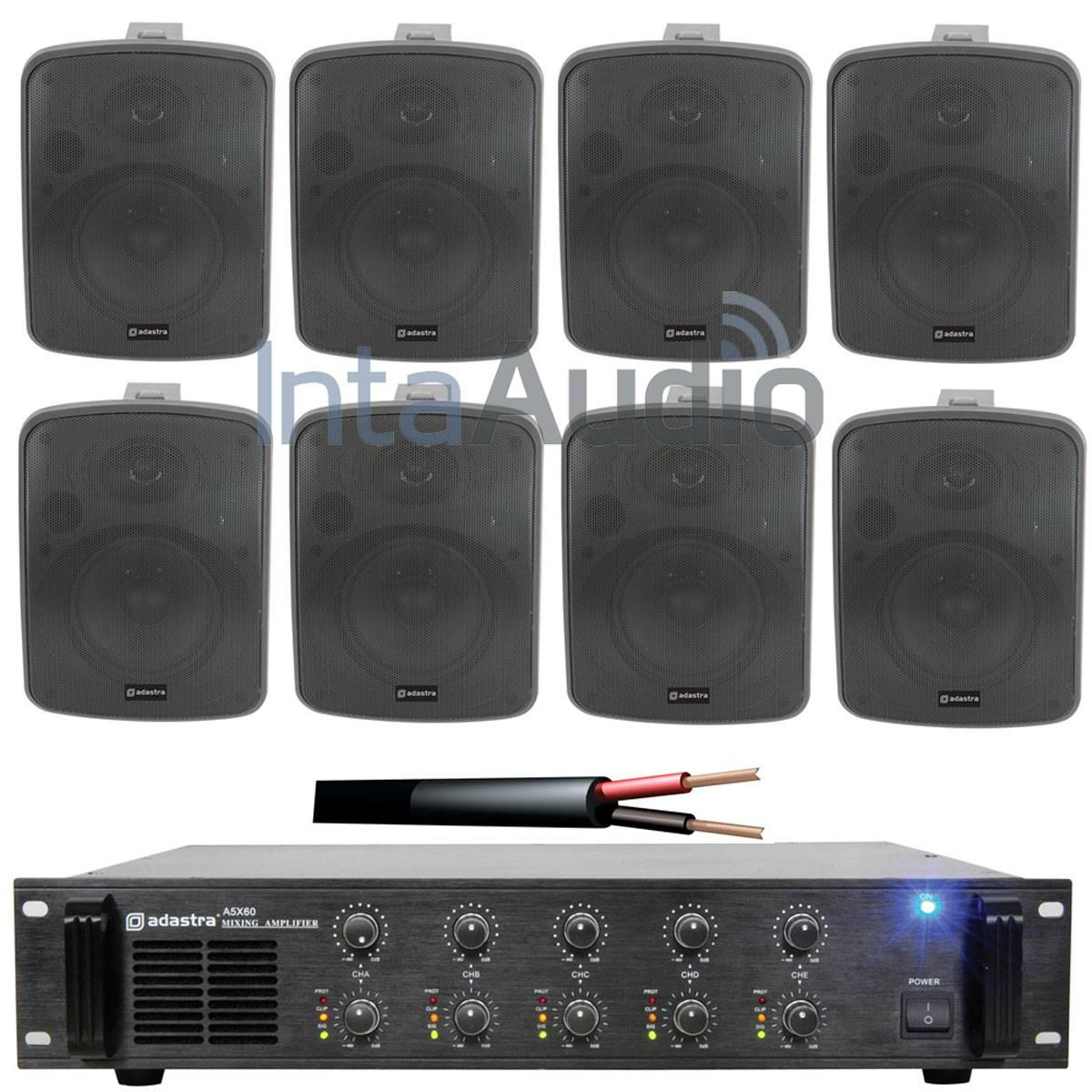 Adastra 8 Speaker Restaurant Compact Background Music