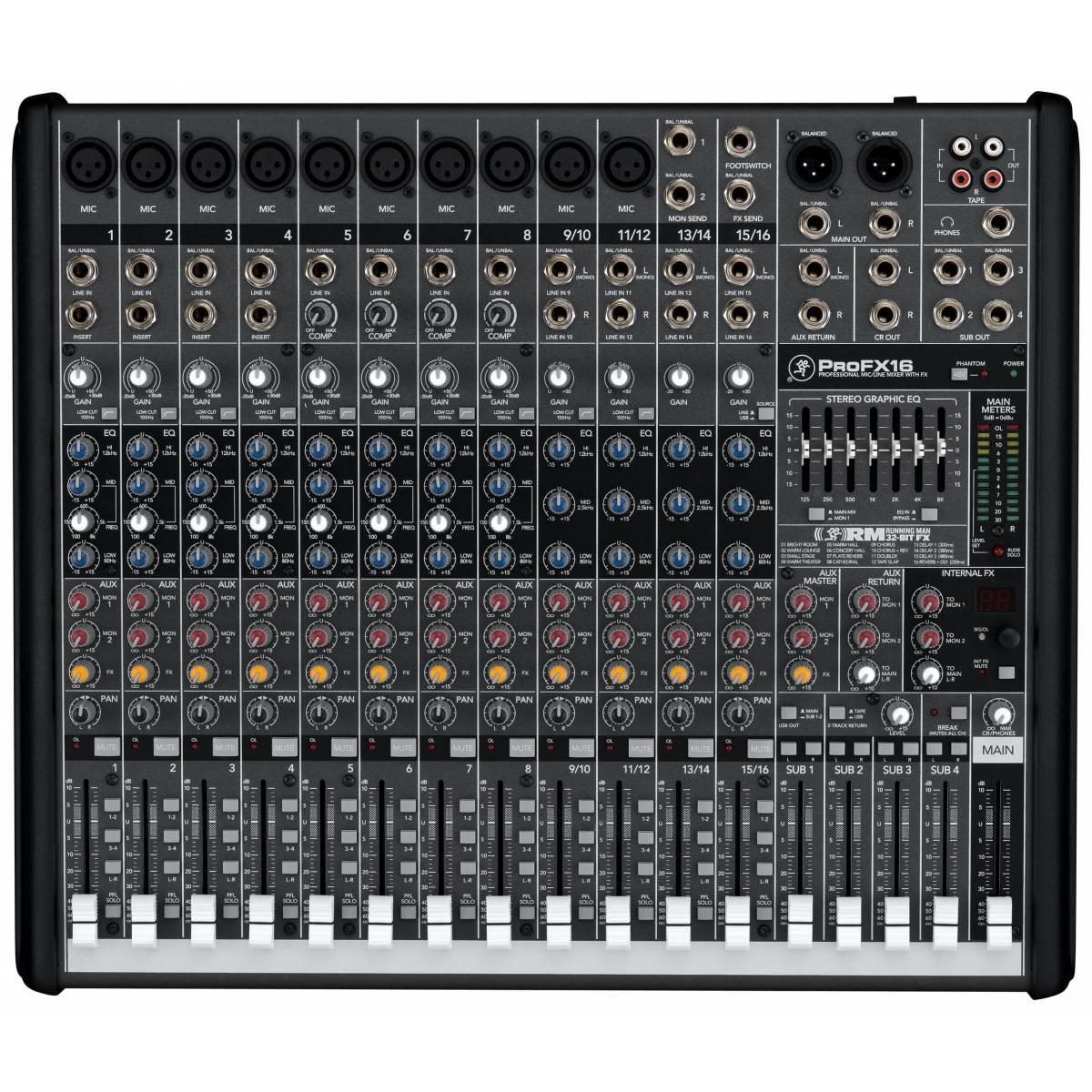 mackie profx16 mixer live usb mixer pro fx16. Black Bedroom Furniture Sets. Home Design Ideas