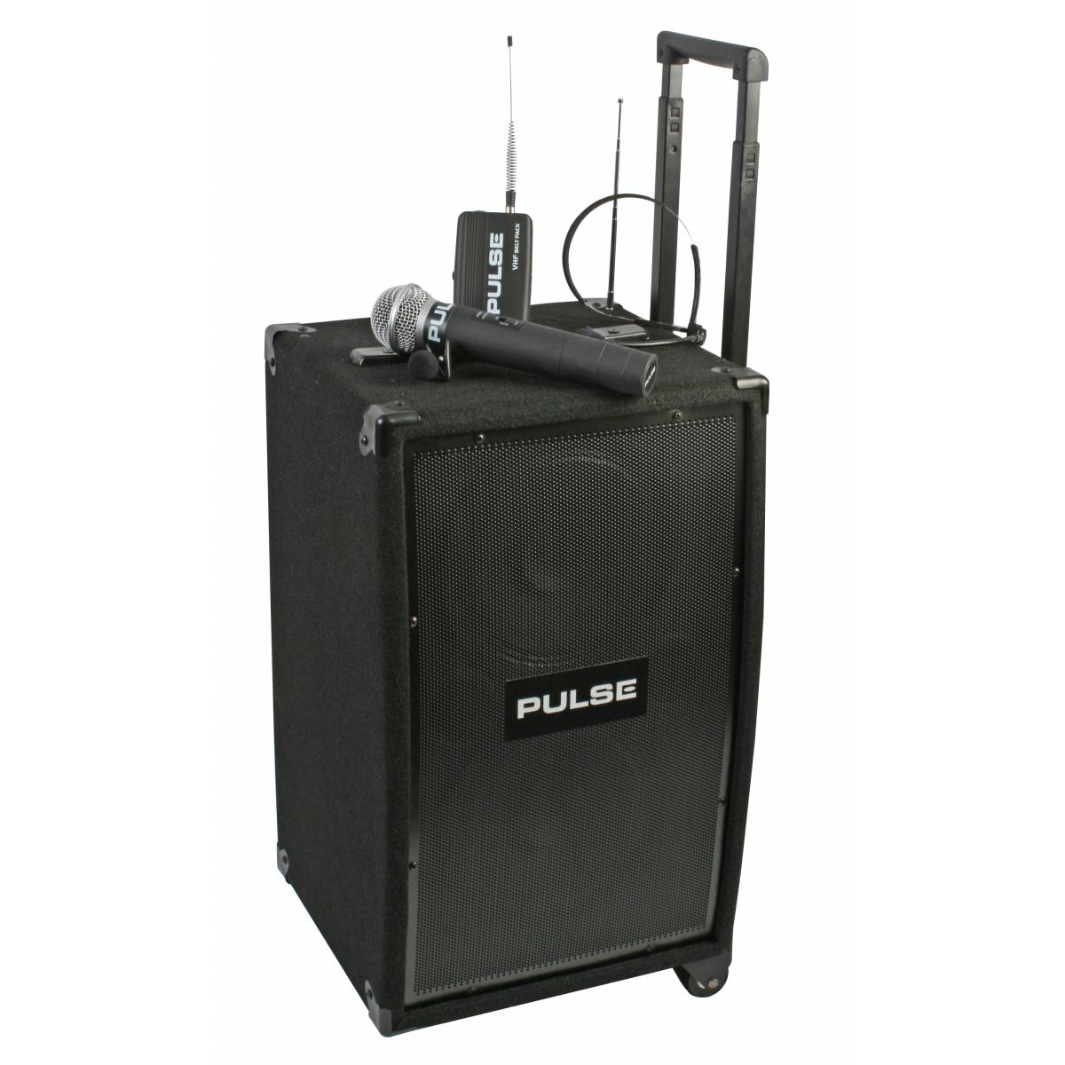 portable pa system 50w with wireless microphones. Black Bedroom Furniture Sets. Home Design Ideas
