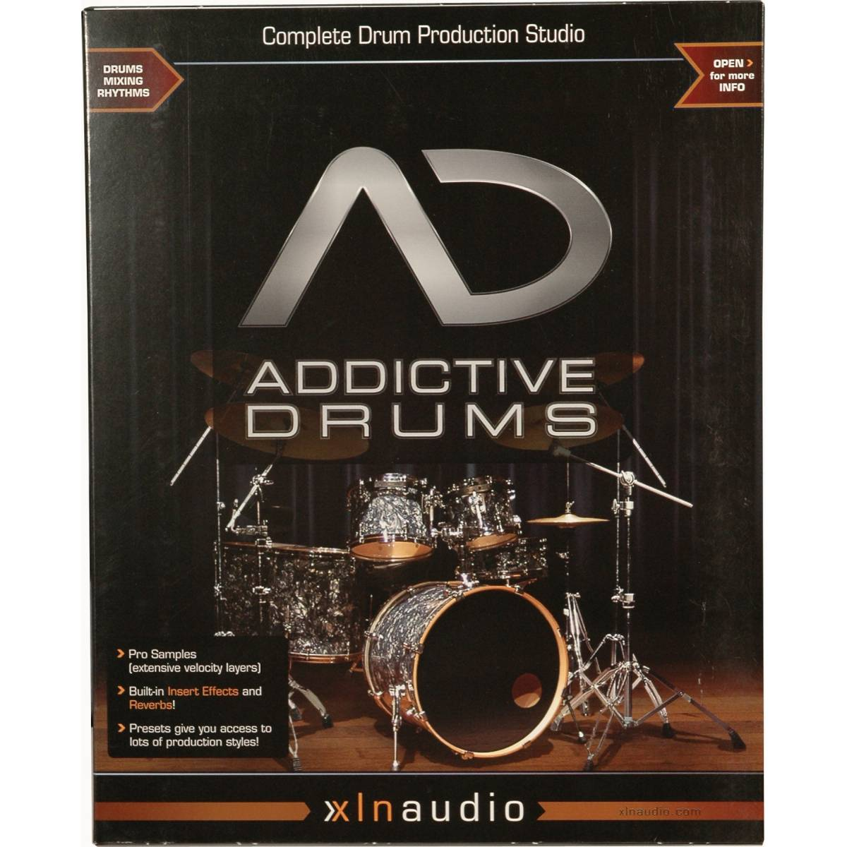 xln audio addictive drums virtual drums percussion from inta audio uk. Black Bedroom Furniture Sets. Home Design Ideas