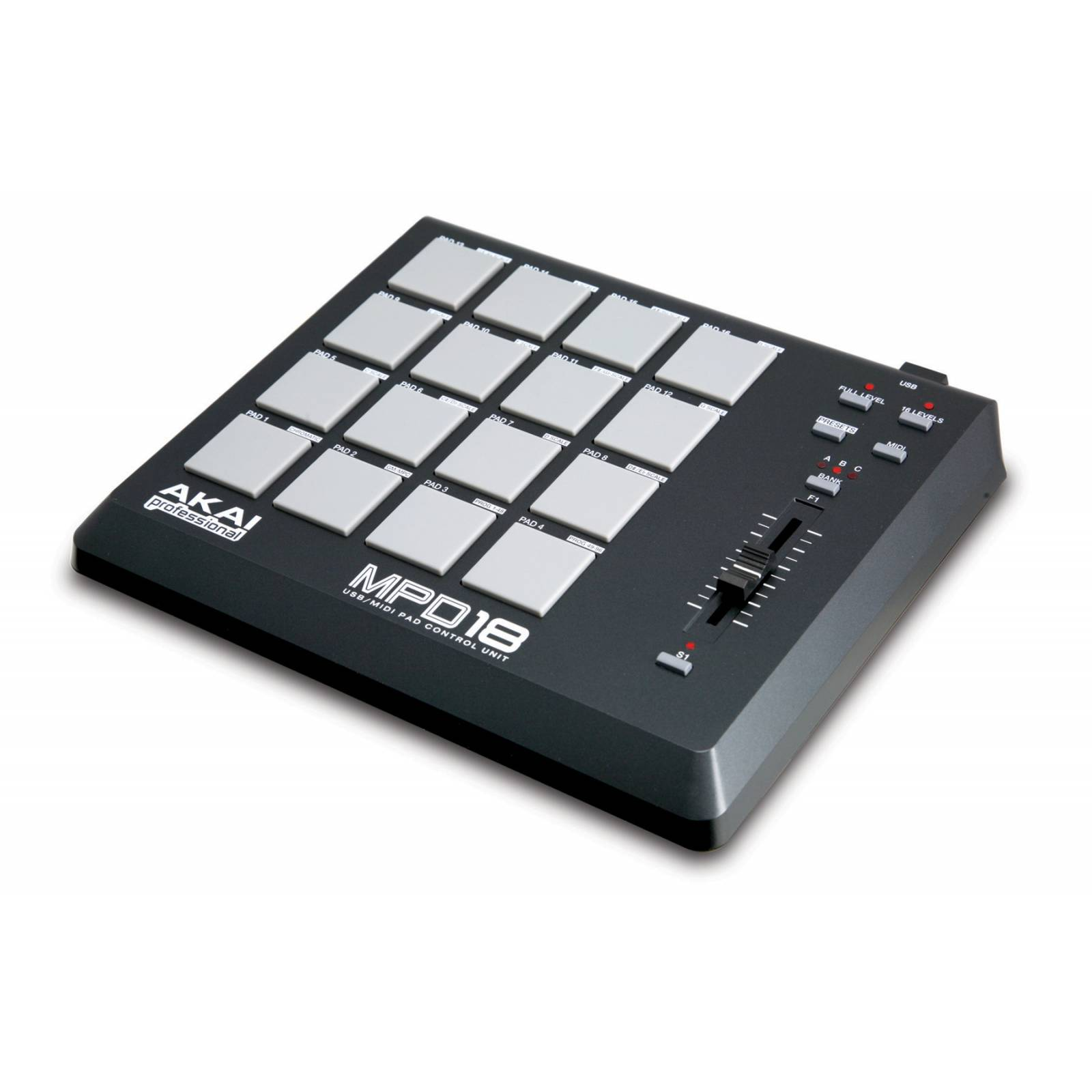 akai mpd18 midi usb pad controller midi controllers from inta audio uk. Black Bedroom Furniture Sets. Home Design Ideas