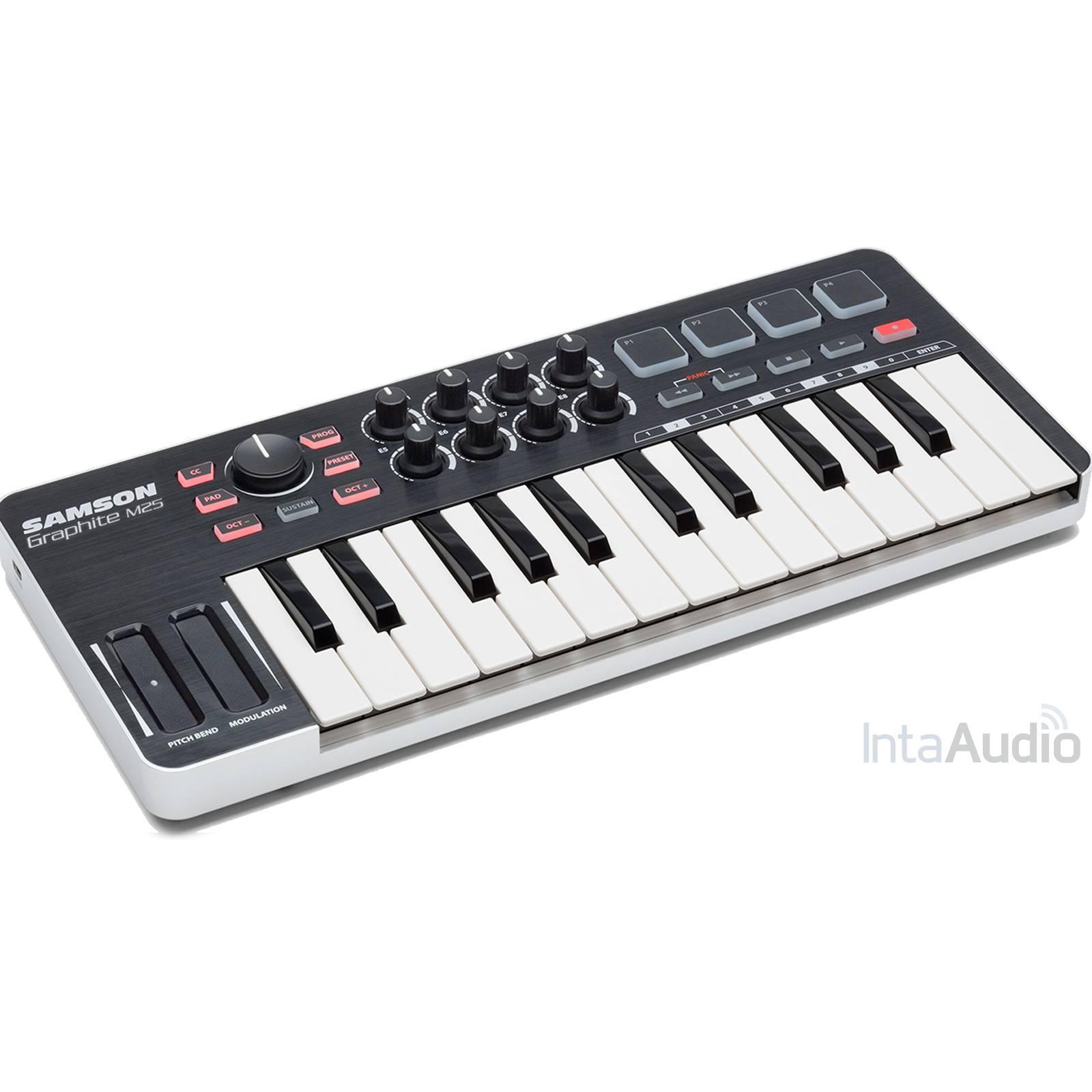 samson graphite 25 mini usb and ipad midi keyboard midi keyboard from inta audio uk. Black Bedroom Furniture Sets. Home Design Ideas