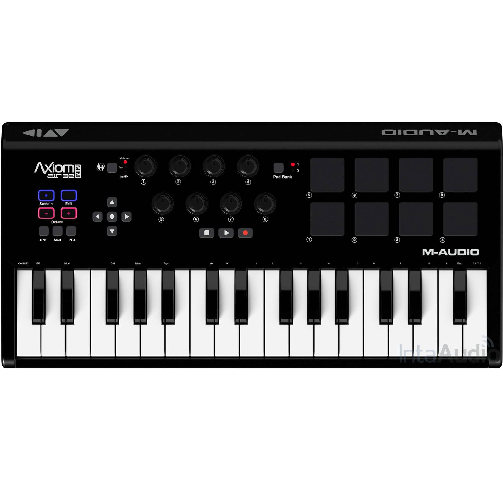axiom air mini 32 usb midi keyboard and pad controller keyboards midi from inta audio uk. Black Bedroom Furniture Sets. Home Design Ideas