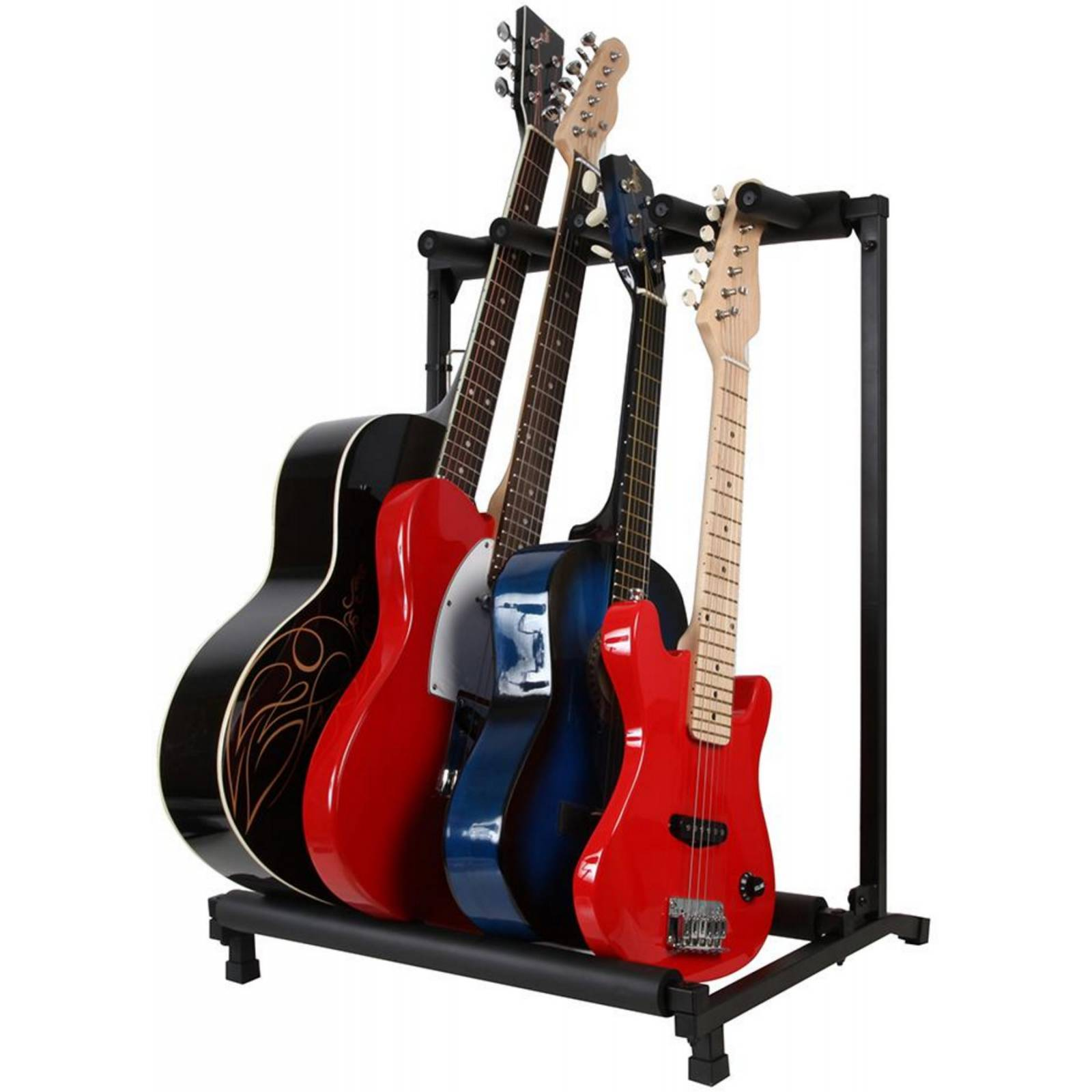 4 way guitar stand guitar folding rack fully built and ready to use guitar stands from. Black Bedroom Furniture Sets. Home Design Ideas