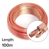 AudioKraft 100m 2x 2.5mm 14AWG Multi-Strand Loud Speaker Cable/Wire