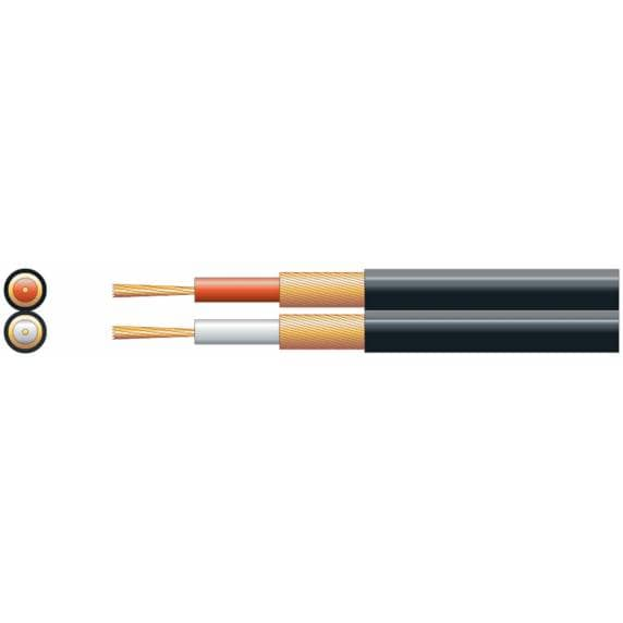 2 Core Screened Audio Cable Figure 8 - 20 Metre Cut