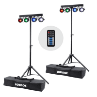 2 x Equinox Microbar COB T-Bar Stage Lighting System