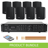 Inta Audio 2-Zone Home/Office Music System with 8 Wall Speakers