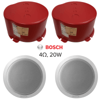 "2x Bosch 6"" Compact Ceiling Speakers, 20w, 4ohms & Firedome"