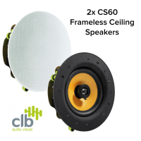 CLB Audio 2x CLB CS60 Premium Ceiling Speaker 60W, 8 Ohms