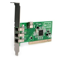 Inta Audio 3 Port PCI Firewire Card - 400Mb/s Texas Instruments Chipset 1394a  (TI Chipset)