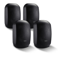 "4 Pack of Apart MASK4CT-BL 4.25"" 100V/16Ohm Two-Way Loudspeakers, Black"