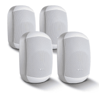 "4 Pack of Apart MASK4CT-W 4.25"" 100V/16Ohm Two-Way Loudspeakers, White"