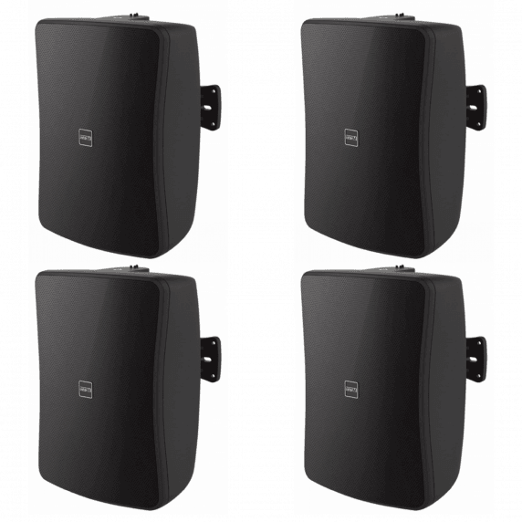 "4 Pack of Inter-M WS50T-BK 5"" Full Range 50W Wall Speakers (Black)"
