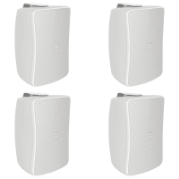"4 Pack of Inter-M WS50T-WK 5"" Full Range 50W Wall Speakers (White)"