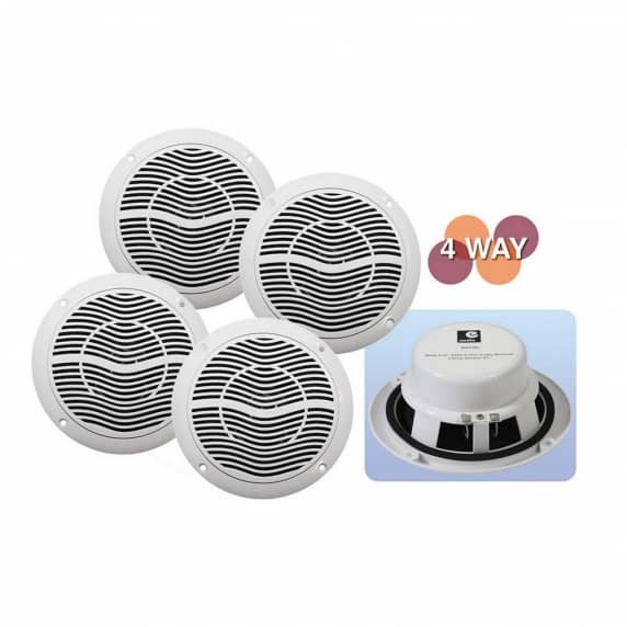 4 Way Bluetooth Amplifier Ceiling Speaker Kit For Home