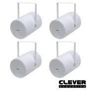 "4 x Clever Acoustics PS 620 100V 6"" 15W Projector Speaker"