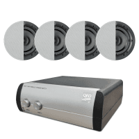 "Q Install 4 x QI65CB 6.5"" In-Ceiling Speakers + QED 2-Way Speaker Switch"