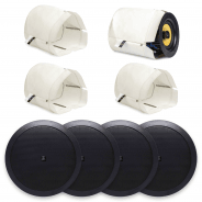 "4x Apart CM20T 6.5"" BLACK Ceiling Speaker & Fire Hood"