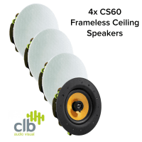 CLB Audio 4x CLB CS60 Premium Ceiling Speaker 60W, 8 Ohms