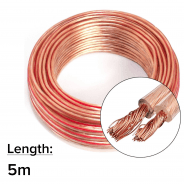 5m 2x 2.5mm 14AWG Multi-Strand Loud Speaker Cable/Wire