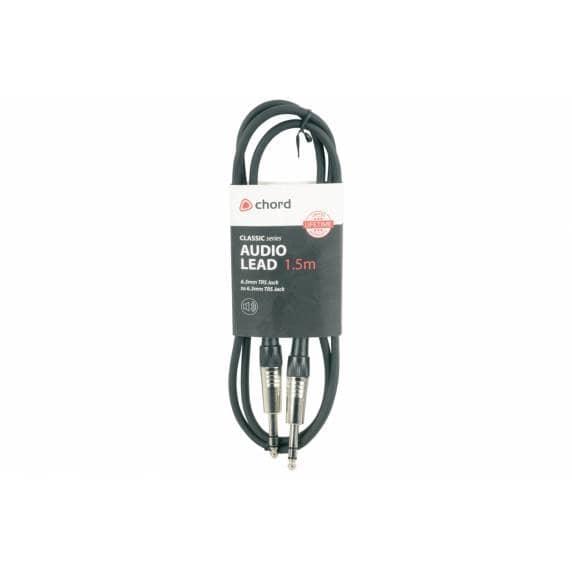 6.3mm TRS Jack Plug to 6.3mm TRS Jack Plug, 1.5m