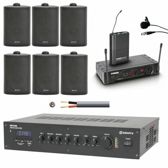 6 Speaker Sound Speech System For Mosques Churches And