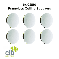 CLB Audio 6x CLB CS60 Premium Ceiling Speaker 60W, 8 Ohms