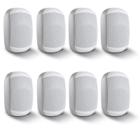 "8 Pack of Apart MASK4CT-W 4.25"" 100V/16Ohm Two-Way Loudspeakers, White"