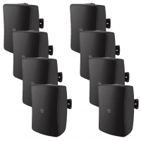 "8 Pack of Inter-M WS50T-BK 5"" Full Range 50W Wall Speakers (Black)"