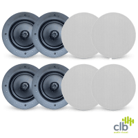 8x CLB Audio CS40 Premium Ceiling Speaker | 40W RMS, 8 Ohm
