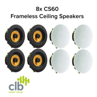 CLB Audio 8x CLB CS60 Premium Ceiling Speaker 60W, 8 Ohms