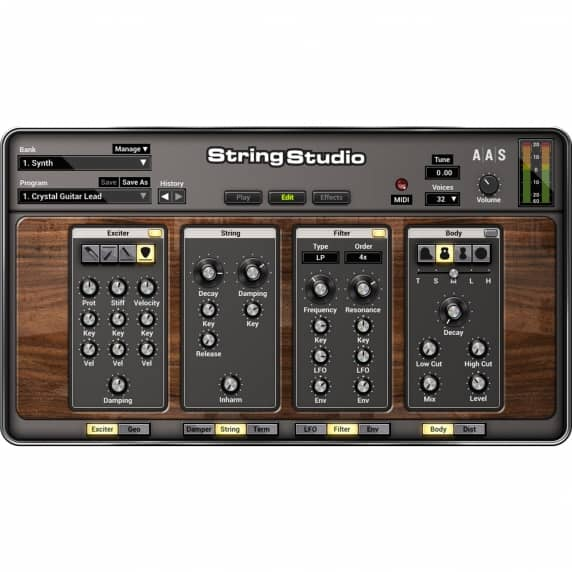 AAS String Studio VS-2 String Modelling Synthesiser (Serial Download)