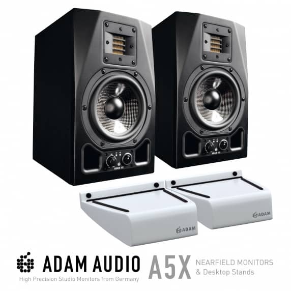 Adam Audio A5X Monitors with FREE Adam Desktop Monitor Stands